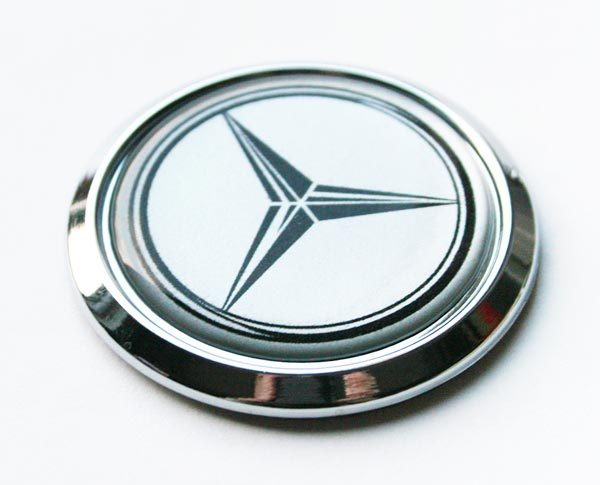 Mercedes benz chrome car badge seethrugraphics and for Mercedes benz badges