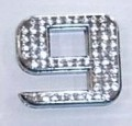Crystal Number Silver - 9