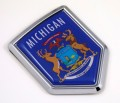 Michigan Flag Crest Car Badge