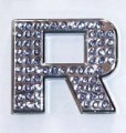 Crystal Letters Blue - R