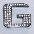 Crystal Letter Silver - G