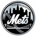 MLB New York Mets Chrome Auto Emblem