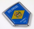Delaware Flag Crest Car Badge