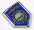 New Hampshire Flag Crest Car Badge