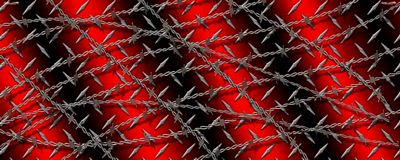 Diamond Plate With Barbwire Red Rear Window Graphic See