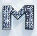 Crystal Letters Blue - M