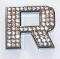 Crystal Letter Silver - R