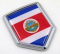 Costa Rica Flag Crest Car Badge
