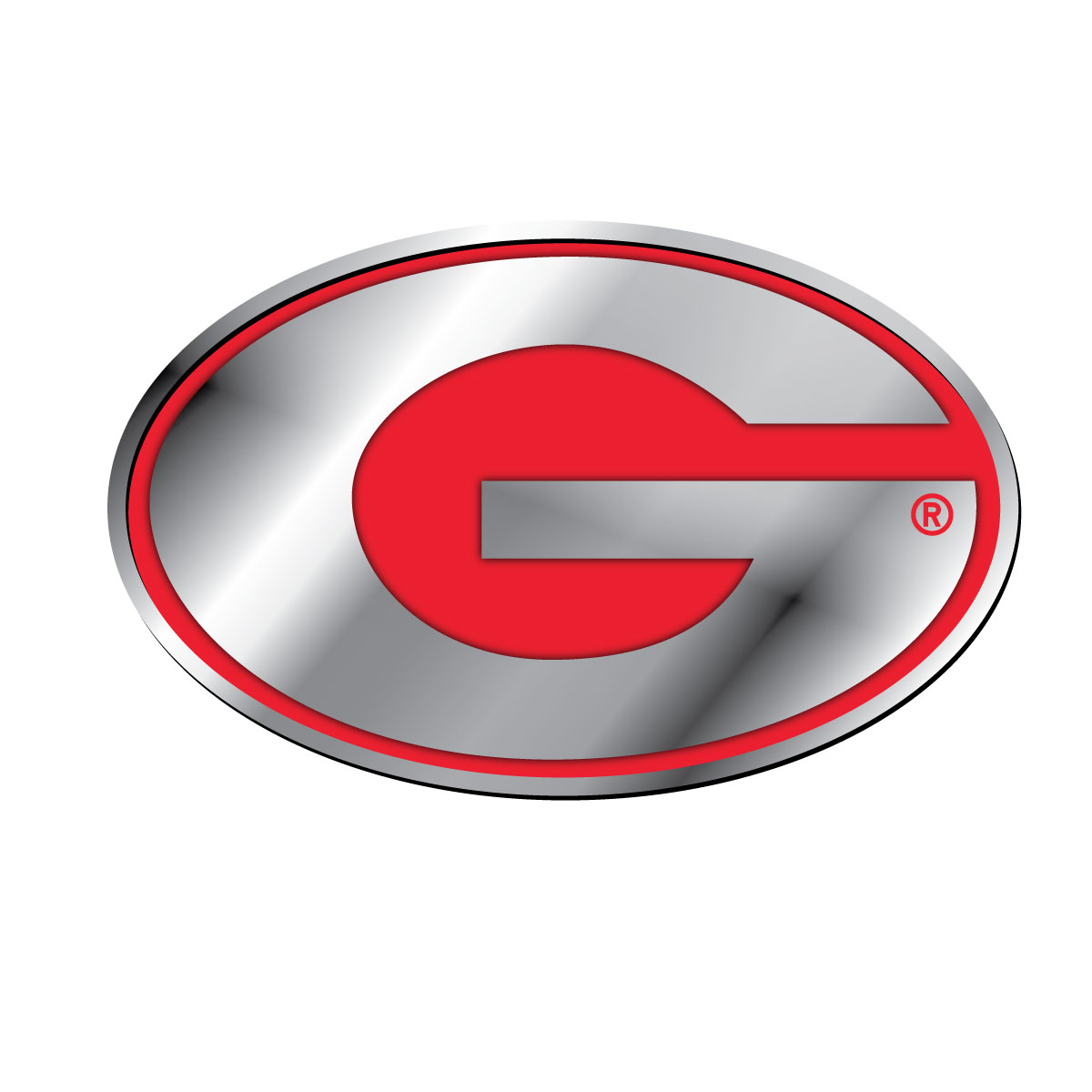 Ncaa Georgia University Solid Metal Color Chrome G Emblem