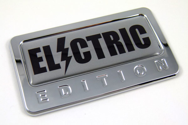 Electric Special Edition Car Badge Seethrugraphics And