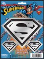 Embossed Superman Chrome Decals