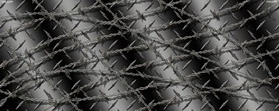 Diamond Plate With Barbwire Black Rear Window Graphic See