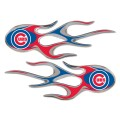 Chicago Cubs Domed Flame Decals PAIR