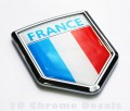 France Flag Crest Car Badge