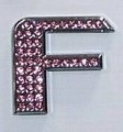 Crystal Letters Pink - F