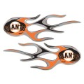 San Francisco Giants Domed Flame Decals PAIR
