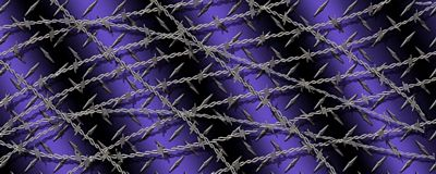 Diamond Plate With Barbwire Purple Rear Window Graphic