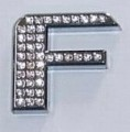 Crystal Letter Silver - F