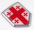 Georgia 3D Adhesive Flag Crest Chrome Car Emblem
