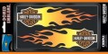 Domed Harley Davidson Orange Flames Decals PAIR