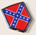 American Rebel Confederate Flag Crest Car Badge