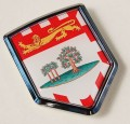 Canada Prince Edward Island Flag Crest Car Badge