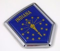 Indiana Flag Crest Car Badge