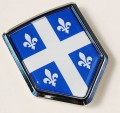 Canada Quebec Flag Crest Car Badge