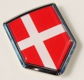 Denmark Flag Crest Car Badge