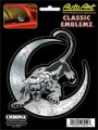Embossed Panther and Moon Decal