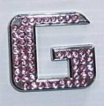 Crystal Letters Pink - G