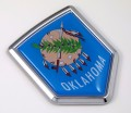 Oklahoma Flag Crest Car Badge