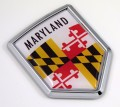 Maryland Flag Crest Car Badge