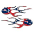 New England Patriots Domed Flame Decals PAIR
