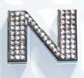 Crystal Letter Silver - N