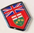 Canada Ontario Flag Crest Car Badge