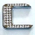 Crystal Letter Silver - C