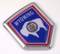 Wyoming Flag Crest Car Badge