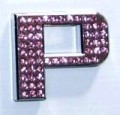 Crystal Letters Pink - P