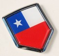 Chile Flag Crest Car Badge
