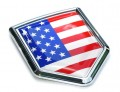 USA American Flag Crest Car Badge