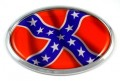 American Rebels 3D Chrome Emblem OVAL Car Badge