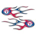 Texas Rangers Domed Flame Decals PAIR