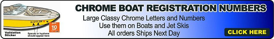 Boat Numbers Chrome