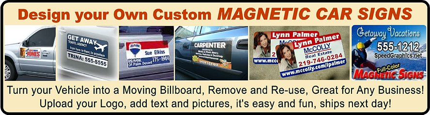 Magnetic Car Sign Stickers