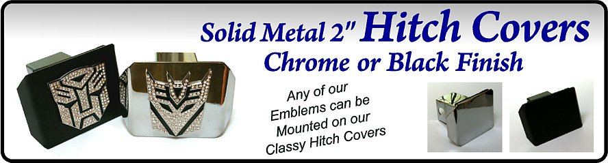 Solid Metal Hitch Covers