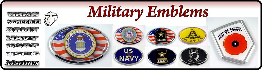 Military car badges
