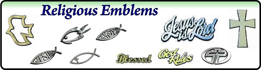 Religious Car Badges