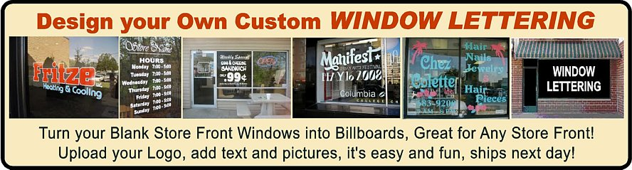 Window Lettering Stickers
