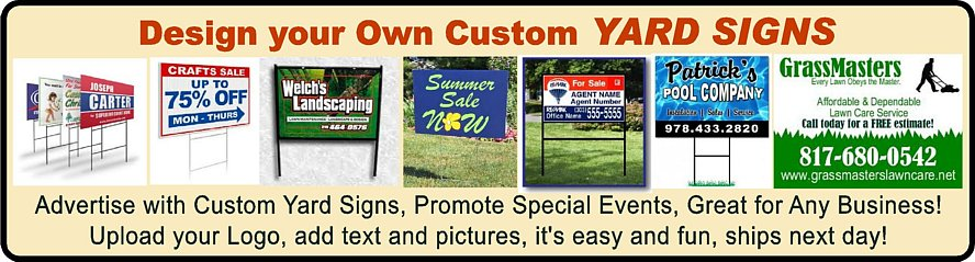 Yard Sign Stickers